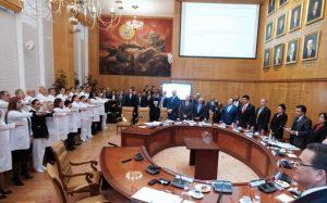 Rinden protesta nuevos representantes del IMSS en los estados, aquí será Arturo Daniel Bonilla