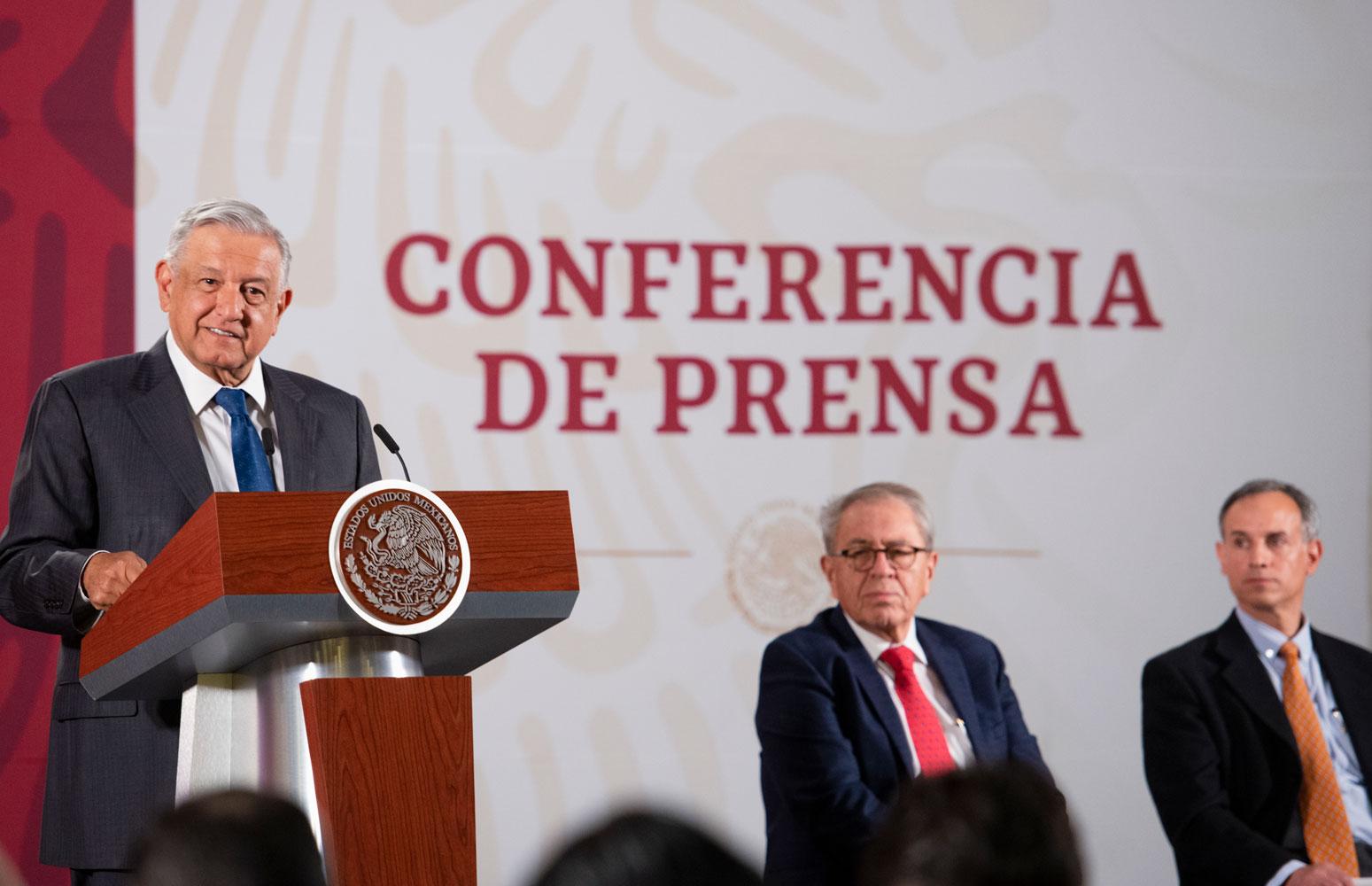 México está preparado para hacer frente al COVID-19: AMLO «Llaman a no generar pánico»