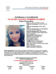 Mujer de 21 años desaparece en Aldama; piden ayuda para ubicarla