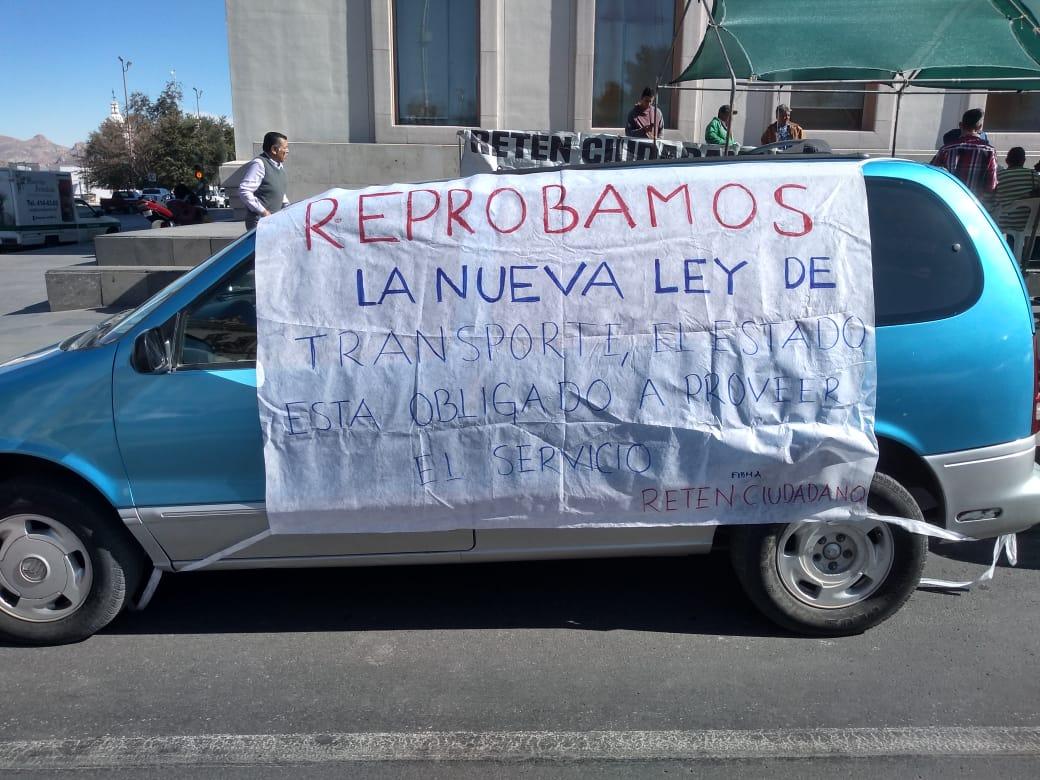 """Exige Retén Ciudadano estatización de transporte público """"no a la privatización"""""""
