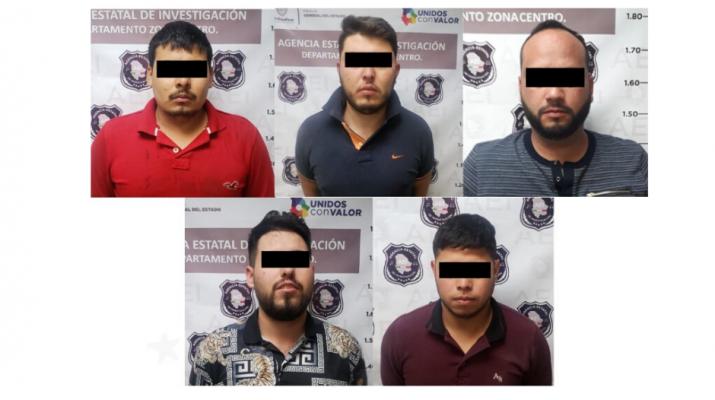 Presentan a líderes de «Los Chapos» detenidos tras ataque a «El 15» y el granadazo en Las Aldabas