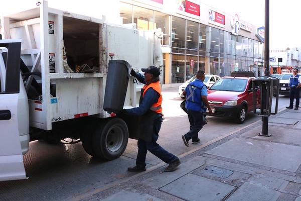 Recolectan durante enero más de 85 toneladas de basura del centro