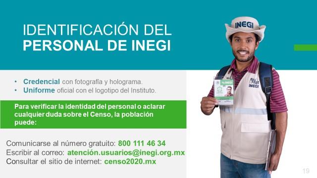 Inicia el próximo lunes CENSO de Población 2020