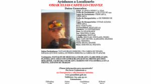 Solicitan colaboración para localizar a hombre desaparecido en Aldama