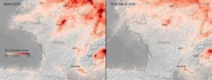Parálisis en Europa por COVID19 ocasiona mayor caída de contaminación