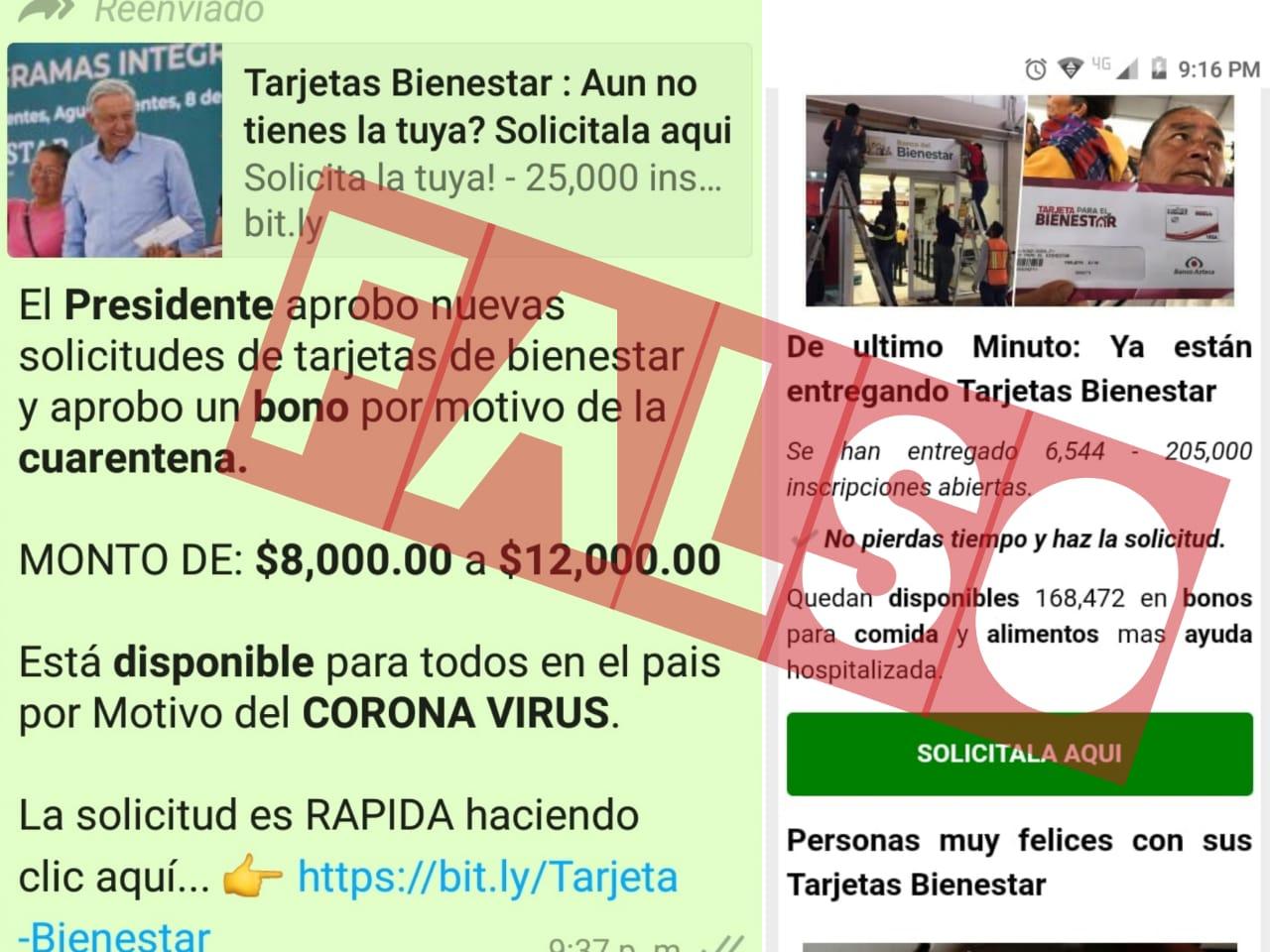 Advierte Secretaría de Bienestar de falso trámite para tarjetas por internet