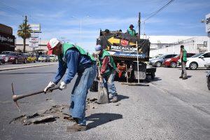 Repara Gobierno Municipal más de mil 200 baches en la ciudad
