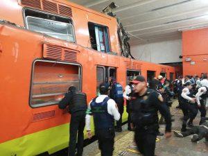 Se impactan dos vagones del metro en la CDMX