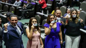 Diputados del PAN rompen «cachitos» del avión presidencial