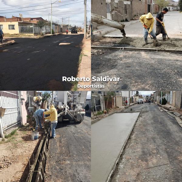 Pavimentan calles de las colonias Deportistas y Rosario