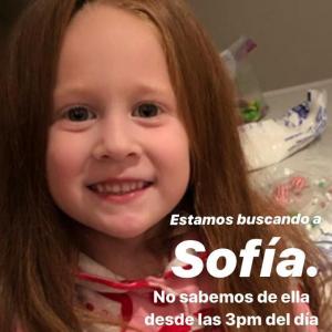 Sofía está con el papá y fuera de peligro: Peniche