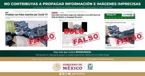 Es falsa la información difundida sobre manejo de cadáveres: IMSS