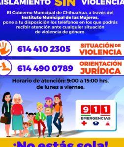 Habilita IMM líneas de atención a la violencia familiar y de género