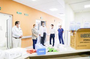 Continúan Gobierno Municipal y FECHAC con entrega de insumos médicos