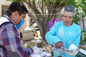 Continúa pago de Pensión para Adulto Mayor y entrega de paquetes de seguridad alimenticia ante cuarentena