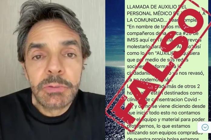 Tunden en redes a Eugenio Derbez por compartir información falsa sobre el Covid-19