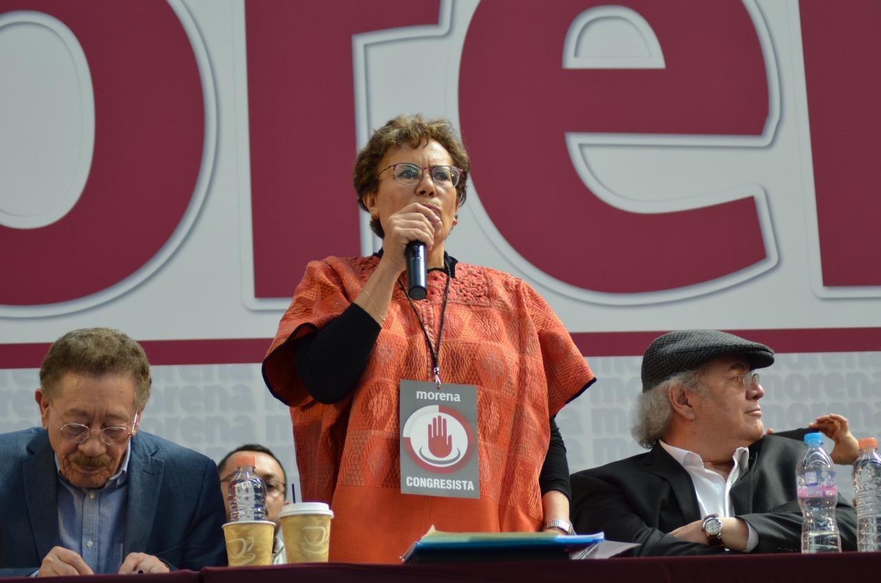 Señala CNHJ de Morena ¡mentira! supuesta sanción a Bertha Luján
