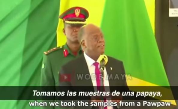 Denuncia Presidente de Tanzania «falsos positivos» en la OMS por COVID19 en papaya, cabra y aceite de maquina