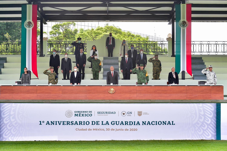 Celebra AMLO Primer año en funciones de la Guardia Nacional