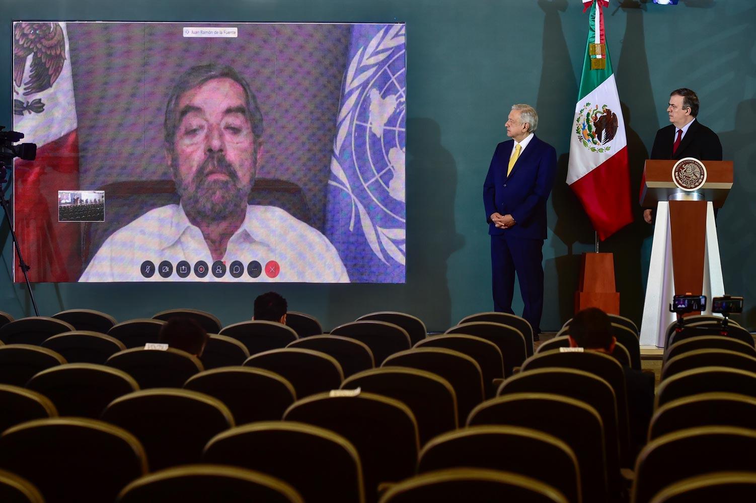 Celebra AMLO integración de México al Consejo de Seguridad de la ONU «reconocimiento a la grandeza de nuestro país»