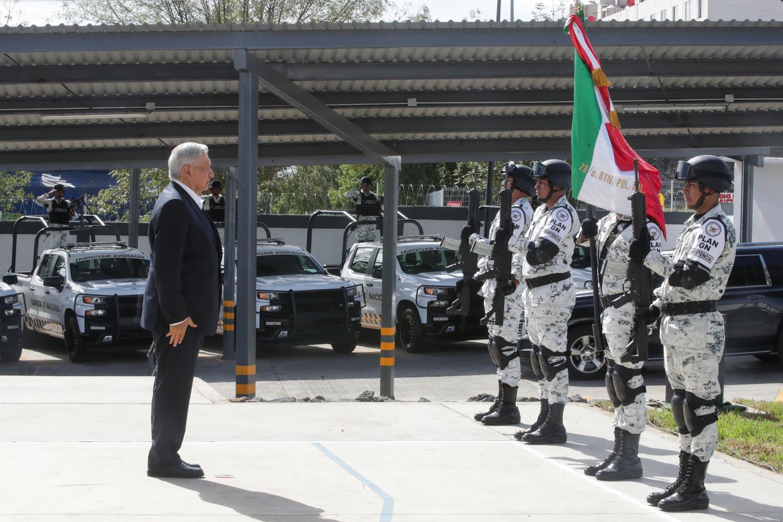 Inaugura AMLO cuartel de la Guardia Nacional en Morelia