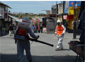Municipio refuerza la limpieza y desinfección de la ciudad