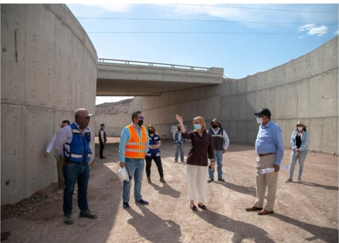 Realiza alcaldesa recorrido por trabajos de prolongación de la vialidad Los Nogales