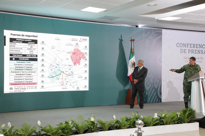 Se compromete Sinhue ante AMLO asistir a reuniones de seguridad para garantizar paz en Guanajuato