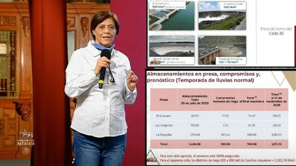 Reafirma Conagua agua para productores en Chihuahua, se agota tiempo para pagar a Estados Unidos