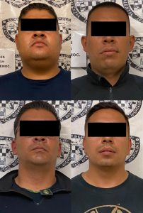 Capturan a cuatro policías estatales, acusados de extorsionar y privar de la libertad a un civil