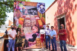 """Entregan el mural """"Paseo Tradicional"""" realizado por Chantal Chávez Salcido"""