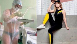 """Enfermera que se hizo viral por atender pacientes en bikini será la nueva """"chica del clima"""""""