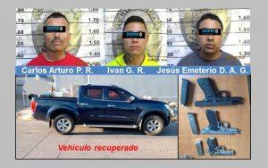 Caen 3 que llegaron de Juárez para delinquir; los acusan de robar pick up