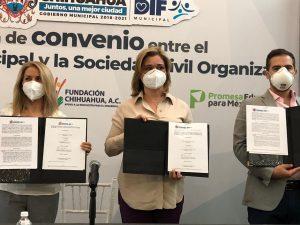 Encabeza alcaldesa firma de convenio con asociación civil