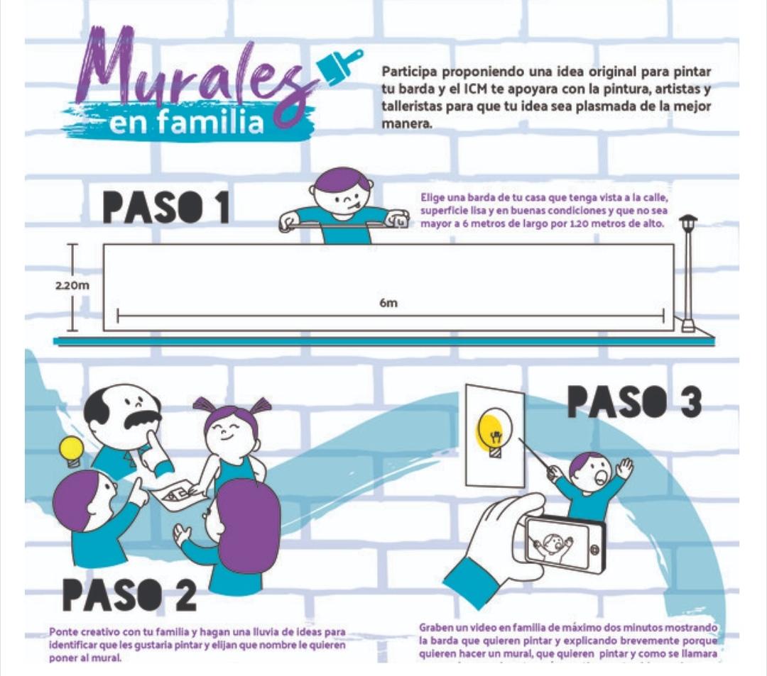 "Dale color a tu casa, convocan a participar en ""Murales en Familia"""