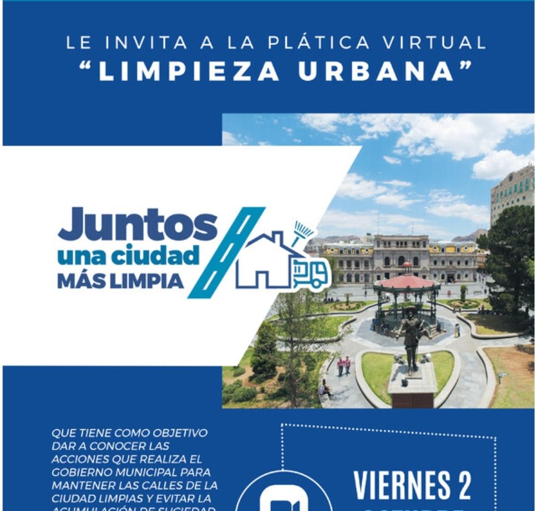 "Invita Gobierno Municipal a plática virtual sobre ""Limpieza Urbana"""