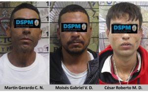 Caen presuntos ladrones en distintos hechos