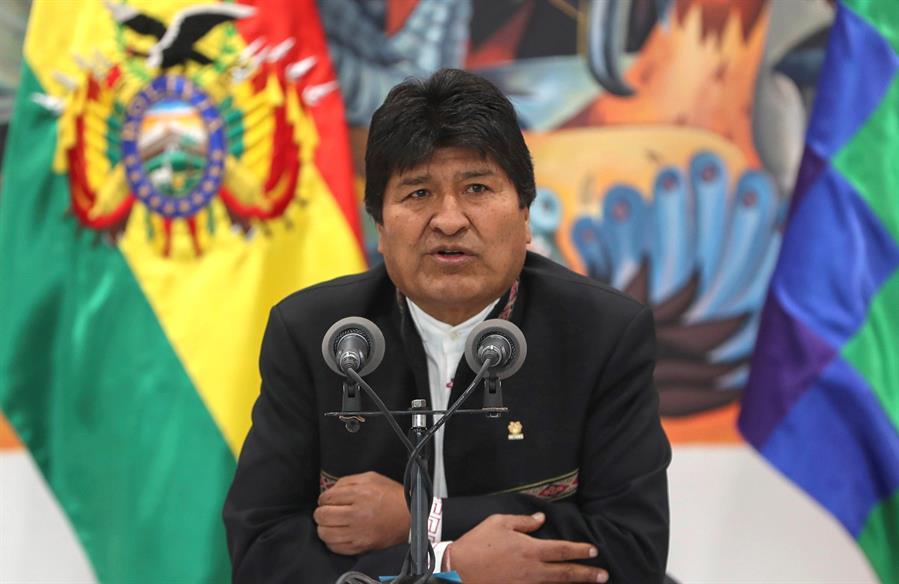 """Advierte Evo Morales posible """"golpe o fraude"""" en próximas elecciones de Bolivia"""