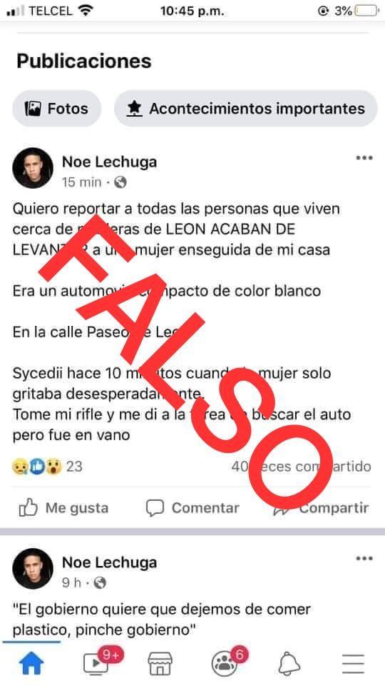 """DSPM sin evidencia hasta el momento de supuesto """"levantón"""" en Praderas del León"""
