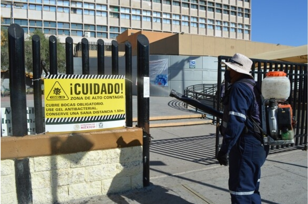 A diario, el Municipio desinfecta zonas de alto contagio Covid