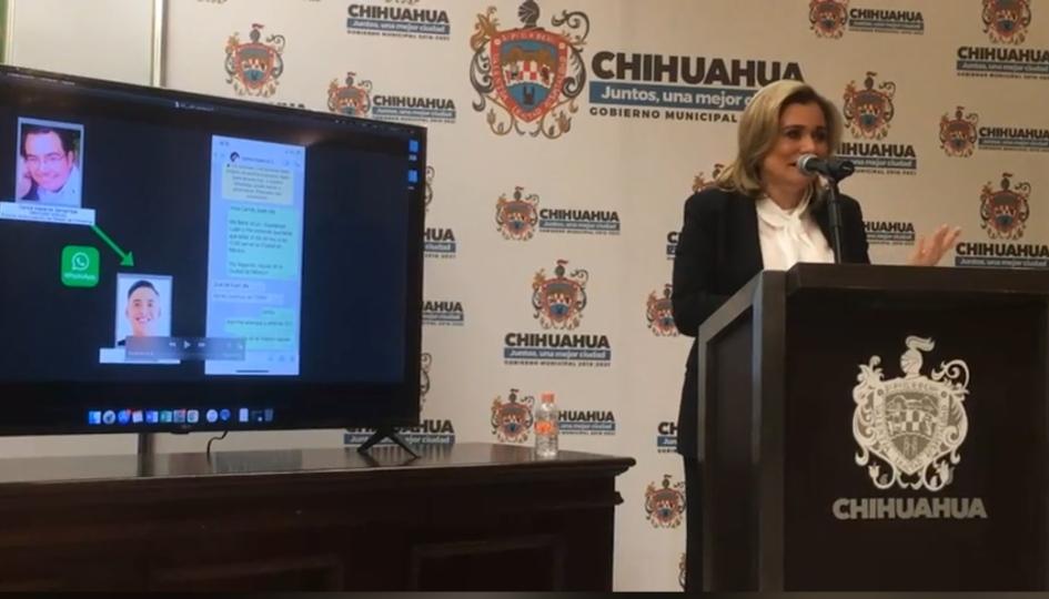 Muestra Maru Campos pruebas de persecución