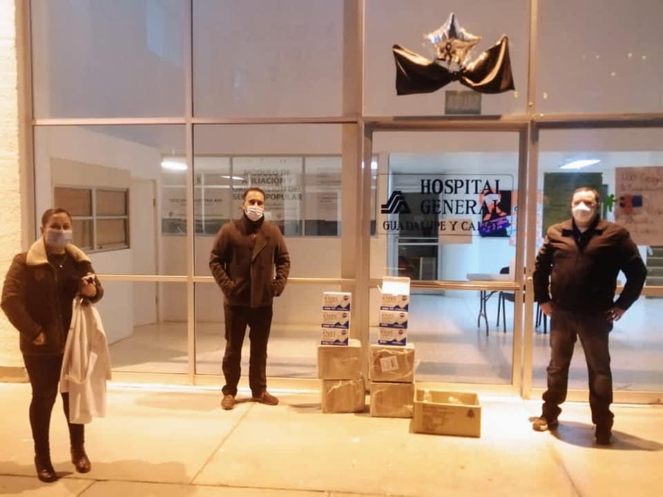 Entrega Juan Carlos Loera donativo de insumos a Hospital General de Guadalupe y Calvo