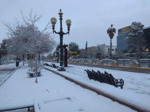 Cuarta tormenta invernal dejó impresionantes postales en la capital