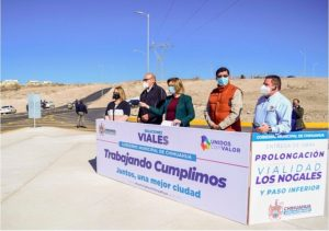 Entrega Maru Campos prolongación de la vialidad Los Nogales y paso inferior