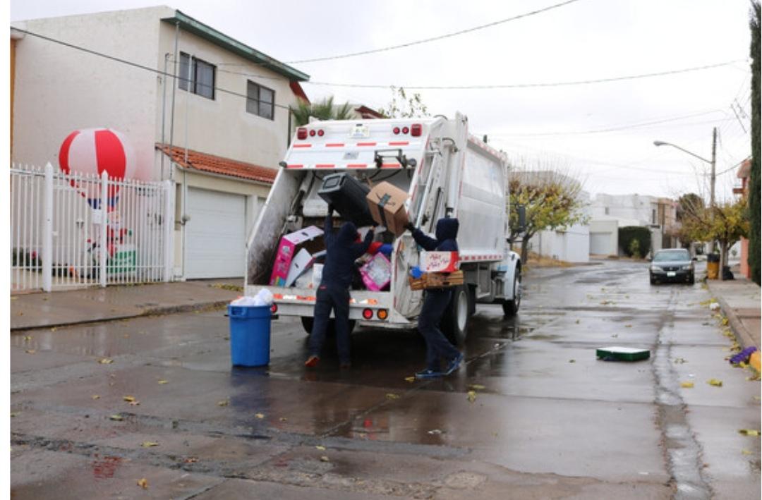 Por nevada, Municipio suspende recolección de basura este jueves