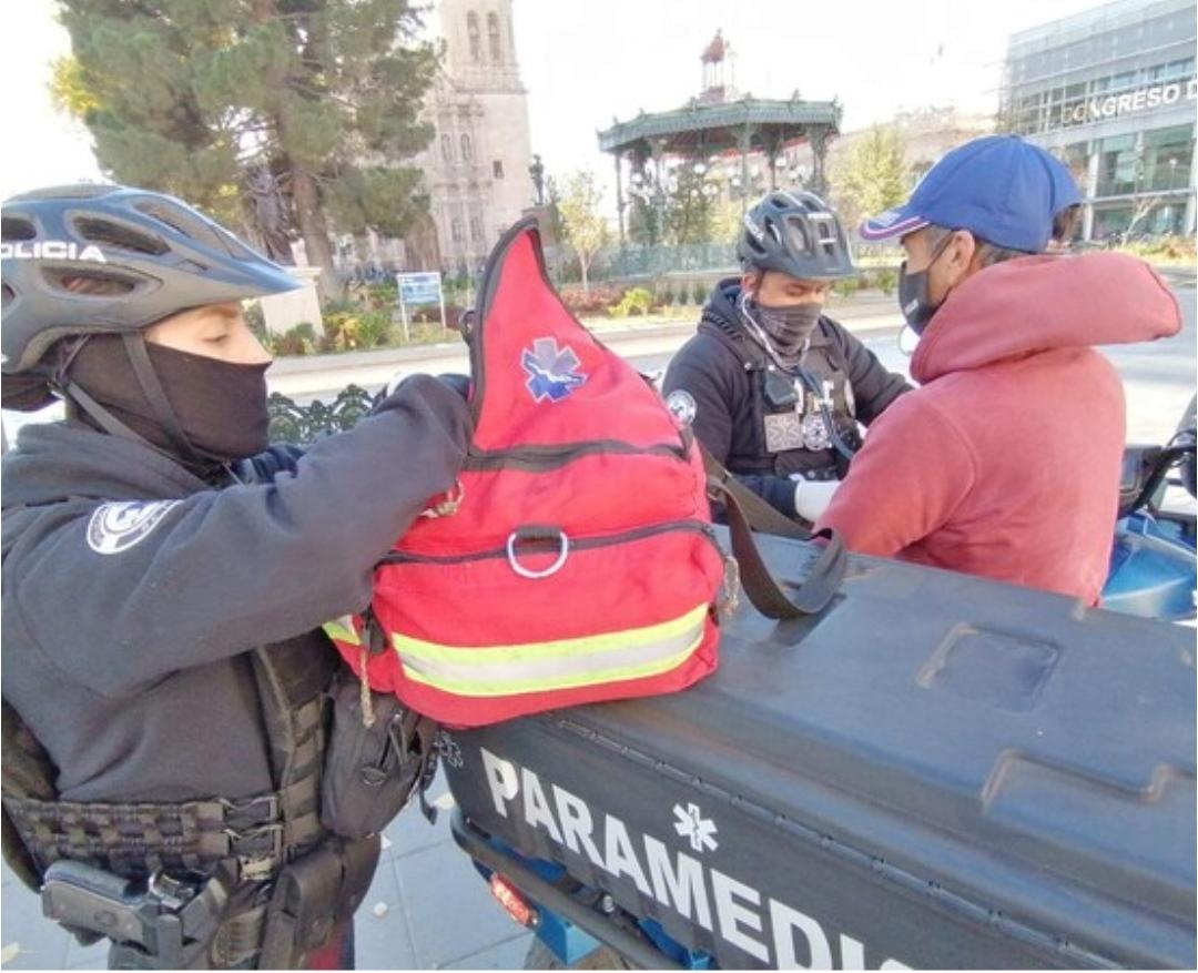 Cuentan Policías con cuatrimoto para atender emergencias en zona Centro