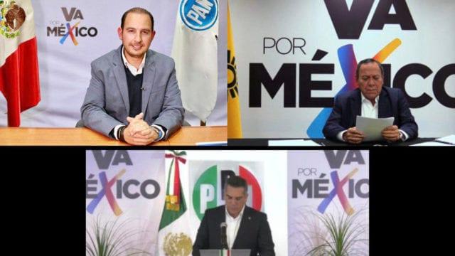 """Se registra el PRIANRD en el INE como la coalición """"Va por México"""" para 2021"""