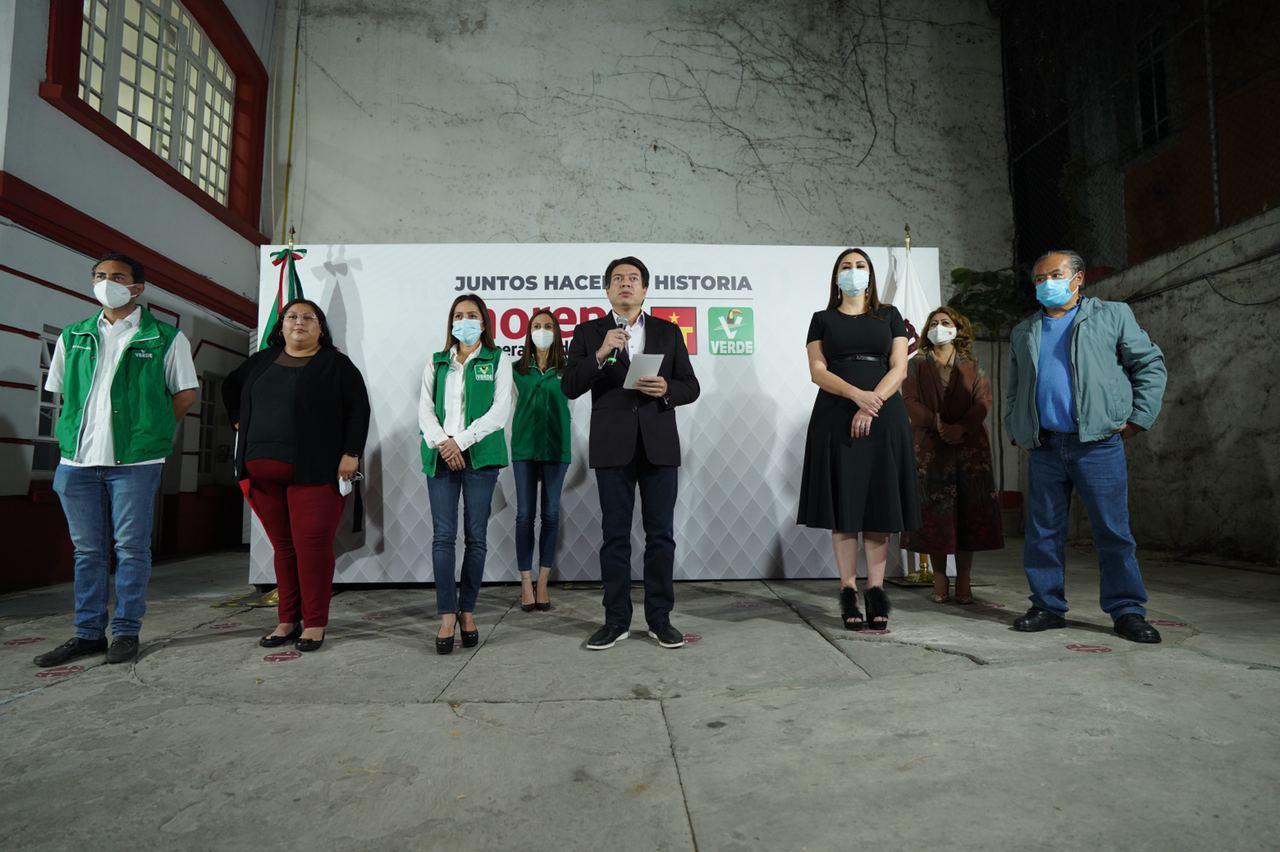 """Anuncia Mario Delgado coalición de Morena con el PT y PVEM a nivel nacional """"Juntos haremos historia"""""""