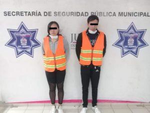 Policías Municipales detienen a pareja en posesión de 140 pastillas psicotrópicas