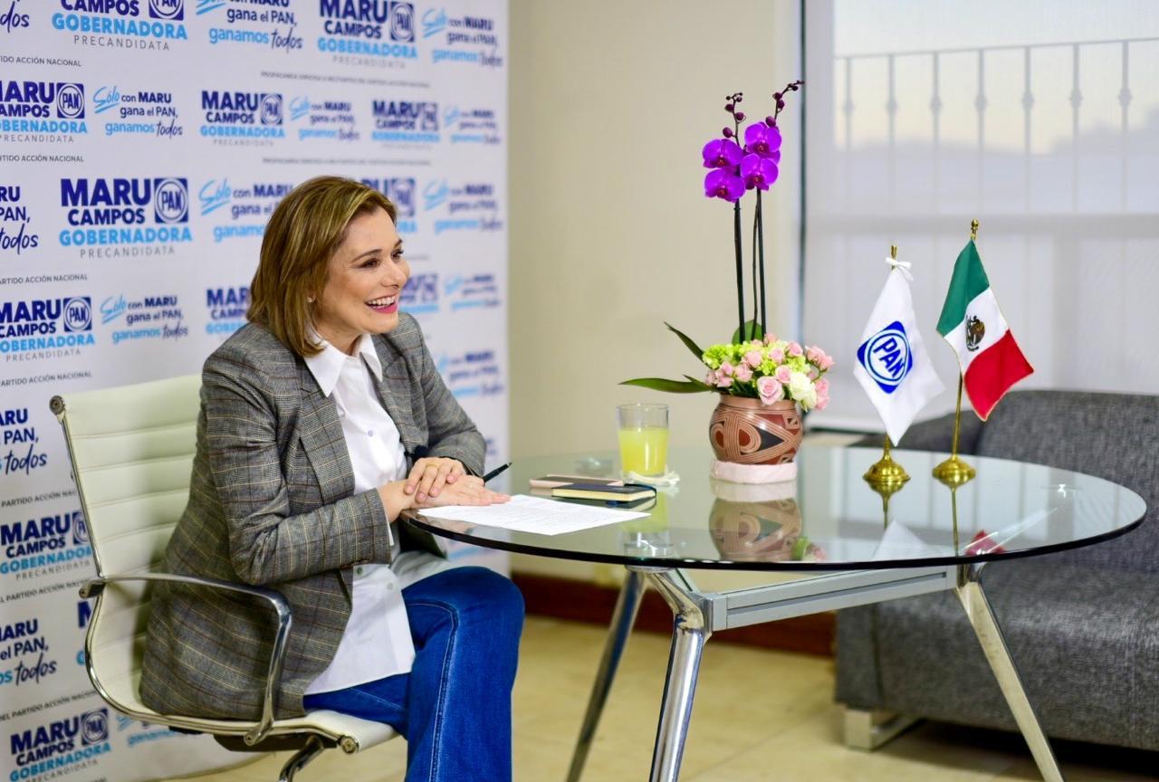 Respaldan más de 600 mujeres a Maru Campos a través de reunión virtual